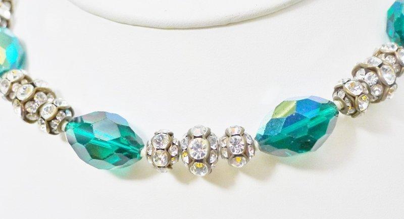 Stunning Vogue Rhinestone and Aurora Borealis Set