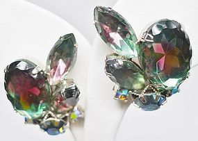 Gorgeous Large Givre Stone Earrings