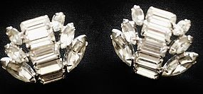 Brilliant Rhinestone Earrings - Baguettes & Marquis