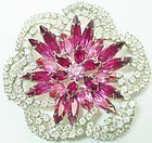 Large Brightly Colored Flower Brooch