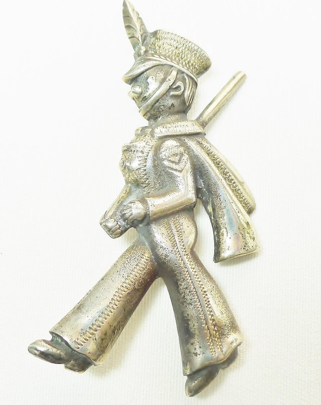 Mexican Sterling Marching Soldier