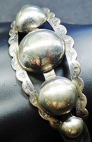 Old Sterling Silver Cuff Bracelet