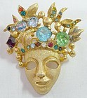 Eisenberg Jeweled Face Mask - Mid-Century