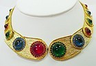 Mosell 1960s Egyptian Revival Jeweled Parure - Very Rare