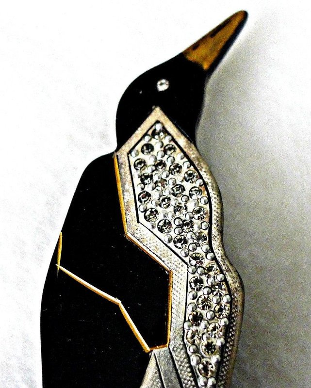 August Bonaz Art Deco Penguin Pin - Book Piece