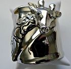 Retro Wide Chrome Plated Giraffe Cuff Bracelet