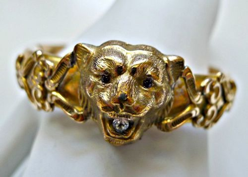 Victorian Lion Bangle Beacelet - FM Co.