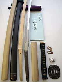 Stunning Unusual Early Edo Katana w/papers