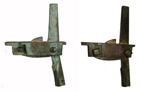Huge Han Dynasty Inscribed Bronze Crossbow Pair