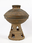 Ancient Korean Silla Period Pottery Pedestal bowl