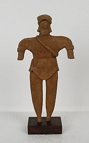 Pre Columbian Colima Culture Warrior Statue
