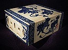 19th Cent Blue and White Porcelain Incense Stand
