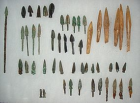 Collection of Ancient Chinese Arrowheads