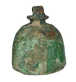 Khmer Culture Large Bronze Bell