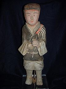 Rare Pair of Han Dynasty Tomb Soldiers w/TL Test