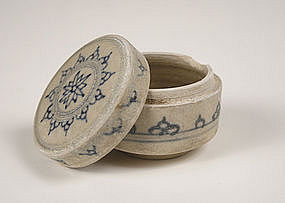 15th Century Blue and White Porcelain Jar