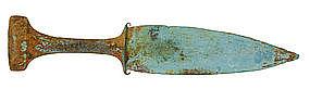 Beautiful Han Period Bronze Dong Son Dagger