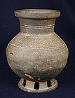 Korean Stoneware Vase Silla Period 6th Century