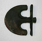 Very Rare Persian Bronze Anchor Axe circa 2000 BC