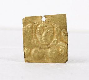 Gandharan Gold Repousse Plaque