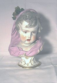 Meissen Bust of a Young Girl; Samson