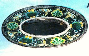 Majolica Oval Footed Centerpiece