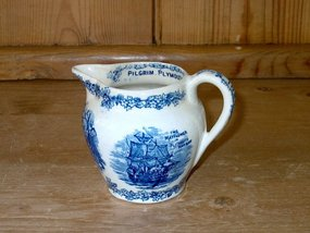 Staffordshire Pilgrim and Plymouth Rock Creamer