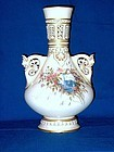 Large Royal Worcester Hand Painted Vase 1888
