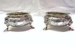 Newell Harding Coin Silver Salts Pair