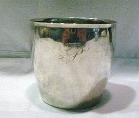 Early American Coin Silver Beaker 1800; J & P Targee