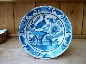 Large Dutch Delft Charger