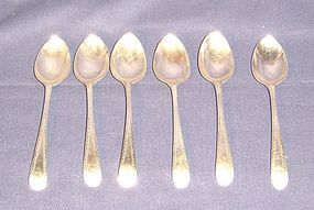 Matched Set of Six Georgian Silver Coffee Spoons; 1792