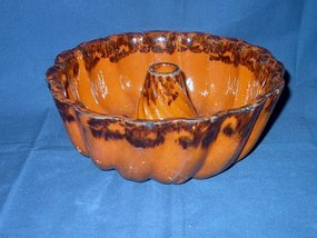 American Redware Pudding Mold