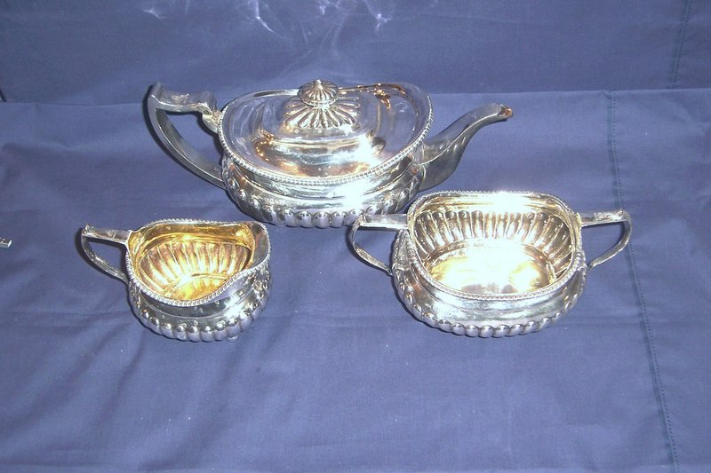 Georgian Silver Three Piece Tea Set