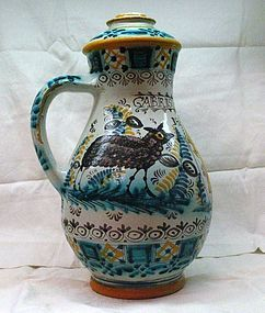 Hungarian Faience Shepherd Jug 1810