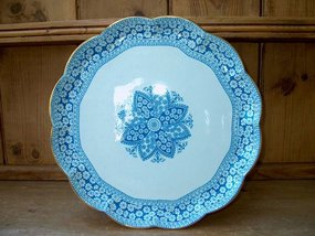 Blue and White Copeland Round Platter