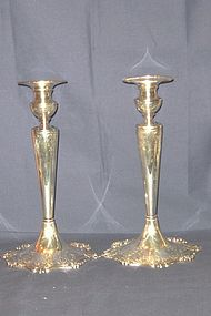 Large American Sterling Candlesticks; Dominick and Haff