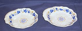 Pair of Spode Georgian  Shaped Dishes