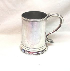 Georgian Silver Newcastle Armorial Mug