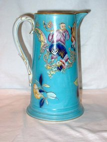 Turquoise Staffordshire Pitcher