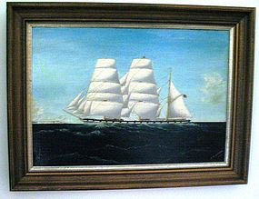 Alexander Fleming Oil on Masonite Sailing