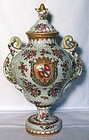 Large Samson Armorial Covered Urn