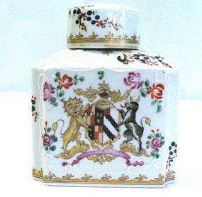 Samson Porcelain Armorial Tea Caddy