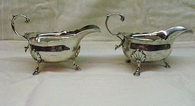 Pair of George II Silver Sauce Boats 1744