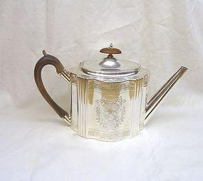 Georgian Silver Teapot; Henry Chawner 1792