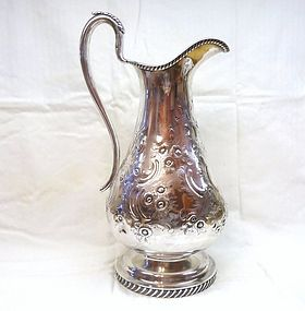 Coin Silver Pitcher or Ewer Henry Stanwood Boston