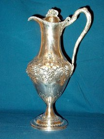Georgian Sterling Silver Claret Jug; 1788