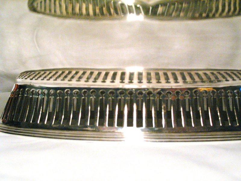 Robert Hennell Georgian Sterling Silver Cake Basket