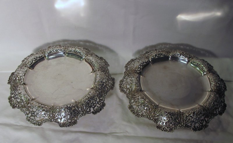 Pair Tiffany Sterling Footed Compotes
