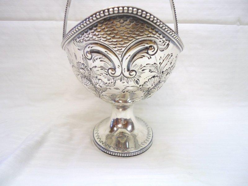 Large Georgian Silver Sugar Basket 1785